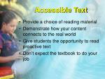 accessible text