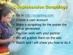 comprehension scrapblogs