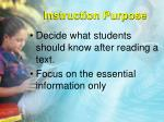 instruction purpose