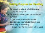 setting purpose for reading