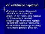 viri elektri ne napetosti