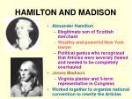 hamilton and madison