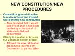 new constitution new procedures