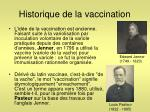 historique de la vaccination