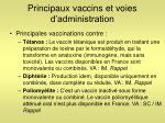 principaux vaccins et voies d administration