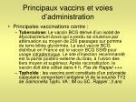 principaux vaccins et voies d administration2