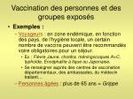 vaccination des personnes et des groupes expos s1