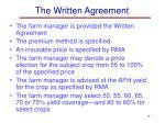 the written agreement