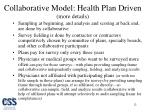 collaborative model health plan driven more details