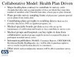 collaborative model health plan driven