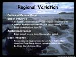 regional variation