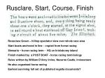rusclare start course finish