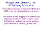 hodges and lehmann 1961 4 th berkeley symposium