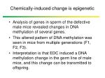 chemically induced change is epigenetic