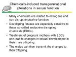 chemically induced transgenerational alterations in sexual function