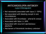 anticardiolipin antibody lupus anticoagulant