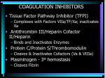 coagulation inhibitors1