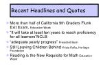 recent headlines and quotes