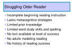 struggling older reader
