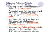 testwiseness an important piece of a comprehensive intervention strategy