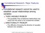 correlational research major features1