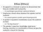 ethos ethics