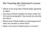 the traveling bra salesman s lesson claudia o keefe