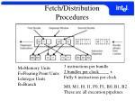 fetch distribution procedures