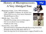 history of microprocessors a very abridged tour