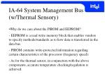 ia 64 system management bus w thermal sensory