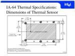 ia 64 thermal specifications dimensions of thermal sensor