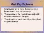 merit pay problems