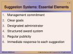 suggestion systems essential elements