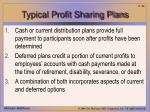 typical profit sharing plans