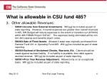 what is allowable in csu fund 4851
