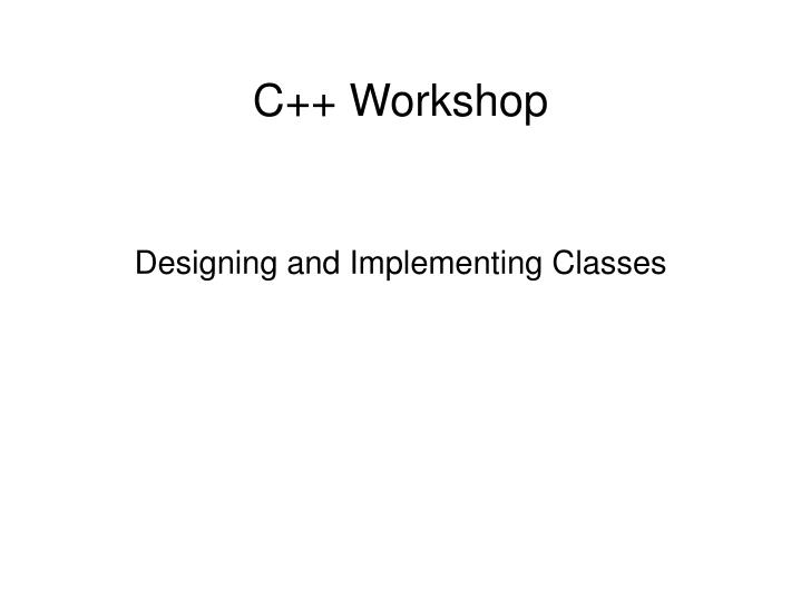 designing and implementing classes n.