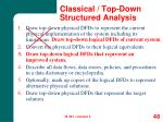 classical top down structured analysis