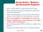 event driven bottom up structured analysis