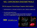 nel carcinoma endometriale