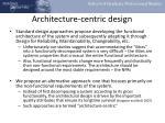 architecture centric design