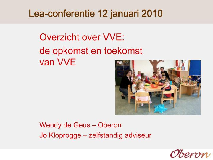 lea conferentie 12 januari 2010 n.