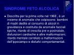 sindrome feto alcolica