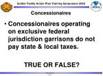 concessionaires