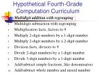 hypothetical fourth grade computation curriculum