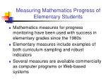 measuring mathematics progress of elementary students