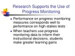 research supports the use of progress monitoring1