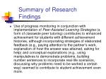 summary of research findings2