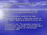 2 from multidimensionality to geometry