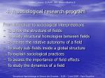 4 a sociological research program2