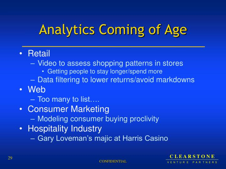 Analytics Coming of Age